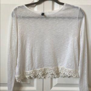 H&M white Floral Crochet bottom white
